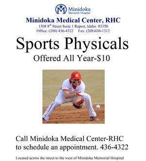 Sports Physical offered at Minidoka Memorial Hospital for $10.